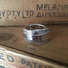 Silver Plated Vintage Spoon Ring