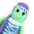 'Avalon' the Sock Mermaid - mint purple and aqua - *READY TO POST*