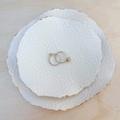 White porcelain ring dish, ring bowl, ring holder. Ceramic bowl.