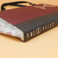 The X Files book bag - Ruins - Kevin J. Anderson - Bag made from a book