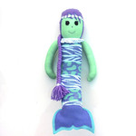 'Avalon' the Sock Mermaid - mint purple and aqua - *READY TO POST*