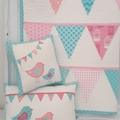 Baby quilt and cushion set