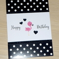 Girls Happy Birthday card - flamingo
