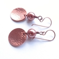 Copper moon and rose gold drop earnings
