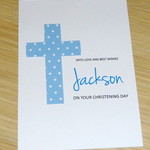 Boys Christening  Baptism  Naming Day First Communion Card -  Personalised