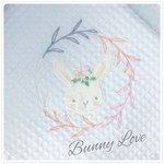 Easter Bunny Girl  Bassinet Blanket