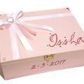 Soft Pink Time Capsule Keepsake Trinket Treasure Memory Wooden Baby Box