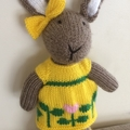 Sophia Bunny Hand knitted Easter Toy Softie