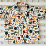 Boy's Button up Shirt - Jungle Animals - Size 1
