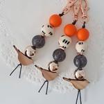 Bird Key chain - Orange