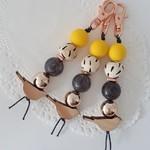 Bird Key chain - Yellow