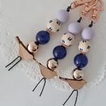 Bird Key chain - Lilac