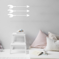 Set of 3 Feather Arrow Large Wall Decals