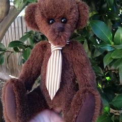 'Geordie' - Handcrafted mohair/alpaca teddy bear