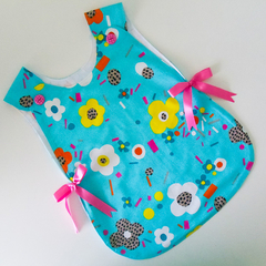 Baby Girl Smock - infants lined smock/bapron/pinafore apron - 12-24 months