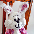 Candy - hand crocheted bunny rabbit ; Easter, safe, washable, easter