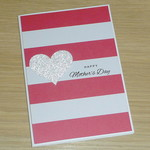 Mother's Day card - pink stripes