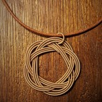 Upcycled Woven Guitar String Necklace