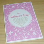 Mother's Day card - pink swirls
