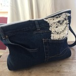 Up Cycle Denim clutch purse, great gift.