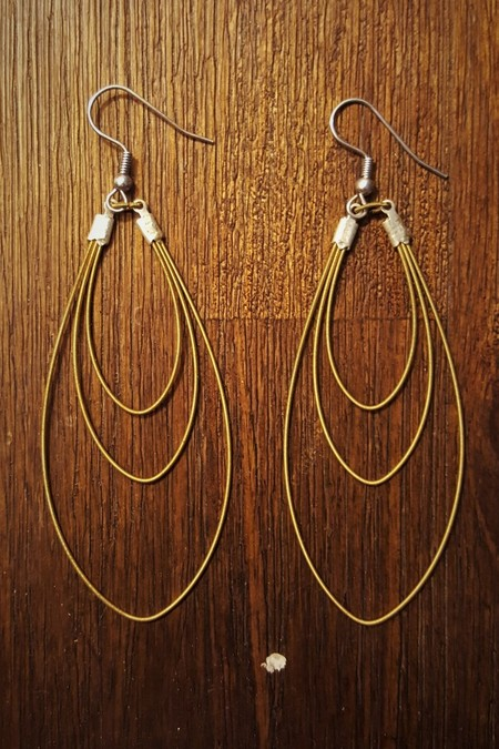 Upcycled Guitar String Tear Drops