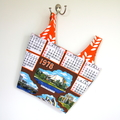 1978 Vintage Australia Tea Towel Market Eco Shopping Carry Bag, Project Bag
