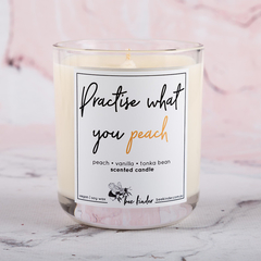 Practise What You Peach Scented Soy Candle