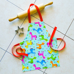 SALE !! - FREE SHIPPING - Toddlers  Reversible Apron - kitchen/craft/play apron