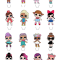 LOL Dolls Edible Wafer Stand-Up Cupcake Toppers - Set of 16 - WC060