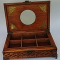 Fully  Hand carved  jewellery box