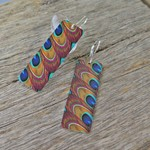 RUFFLED FEATHERS, DYE SUBLIMATION EARRINGS