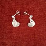 Recycled Silver Heart Earrings