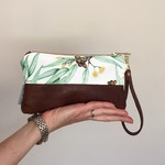 Australian Yellow Flowering Gum Leather Clutch