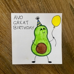 Avocado Pun Birthday Card