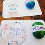 Personalised Easter Egg Card - suit MINI solid egg - set 10