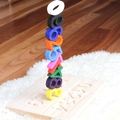 Wood Numbers Puzzle Stacking Toy Stacker Montessori Toy Reggio Emilia Preschool