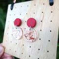 Saffron earrings, dangle earrings, drop earrings, statement earring, red earring