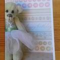 Birthday card featuring 'Evie' - a Bearly Bears miniature ballerina teddy bear