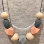 Silicone Sensory Necklace for Mum (was teething) Gift Jewellery Handmade Mono
