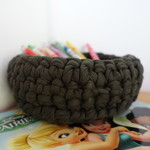 Crochet basket, storage basket, chunky yarn, home decor, baby shower gift, bowl