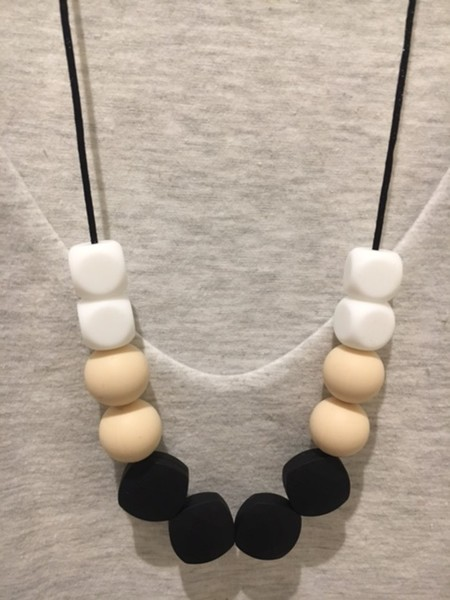Silicone Sensory Necklace for Mum (was teething) Gift Jewellery Handmade
