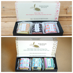 Pure Extra Virgin Olive Oil Scented Soap Trio ( 2 boxes)