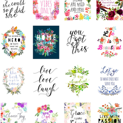 Inspirational , Printable Planner Stickers, Printable Stickers, Planner Supplies