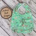 """Easter Woodland""Cotton Bib Buy 3 bibs get the 4th free andFree Post"