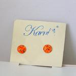 Resin Earrings- Orange