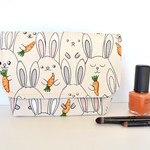 Easter bunny gift, cosmetic bag
