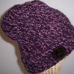 Beanie - Hand Knitted- Purple Tones