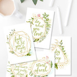 Pack Of Five, A5 Quotes , Printable Planner Supplies