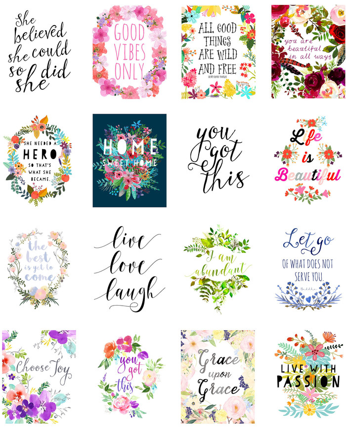 inspirational printable planner stickers printable stickers