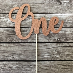 ONE Cake Topper - Rose Gold | 1st Birthday Cake Decor, First Birthday Party